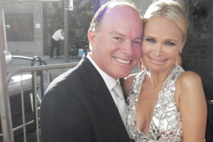 Kevin Allyn and Kristin Chenoweth after Emmy win