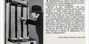 Too funny! Those clever Brits had the prototype for Twitter in1935.